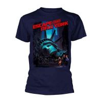 Escape From New York - Movie Poster Navy (T-Shirt)