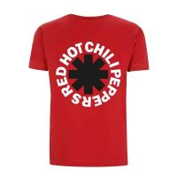 Red Hot Chili Peppers - Classic B&W Asterisk Red (T-Shirt)