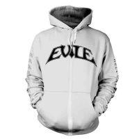 Evile - Hell Unleashed White (Zipped Hooded Sweatshirt)