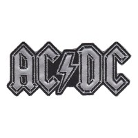 ACDC - Silver Shaped Logo (Patch)
