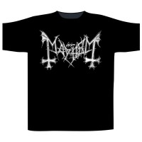 Mayhem - Distressed Logo (T-Shirt)