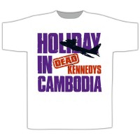 Dead Kennedys - Holiday In Cambodia Plane White (T-Shirt)