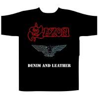 Saxon - Denim & Leather (T-Shirt)