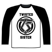Twisted Sister - TS Logo (Long Sleeve Baseball Shirt)