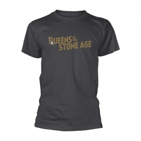 Queens Of The Stone Age - Text Logo Metallic (T-Shirt)