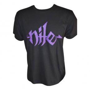 Nile - Purple Logo (T-Shirt)