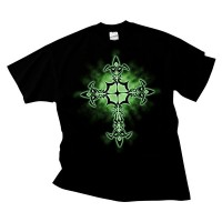 Celtic Cross Green Glow (T-Shirt)