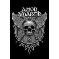 Amon Amarth - Skull & Axes (Textile Poster)