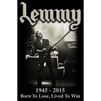 Lemmy - Lived To Win (Textile Poster)