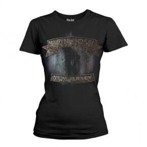 Bon Jovi - New Jersey (Girls T-Shirt)