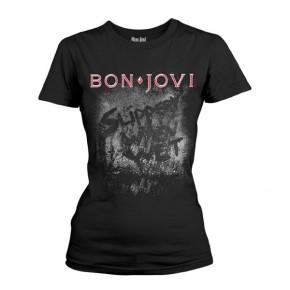 Bon Jovi - Slippery When Wet (Girls T-Shirt)