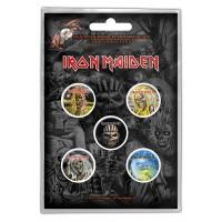 Iron Maiden - Faces Of Eddie (Badge Pack)