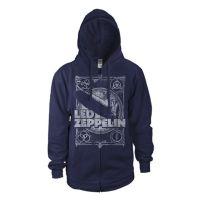 Led Zeppelin - Vintage Print LZ1 (Zipped Hooded Sweatshirt)