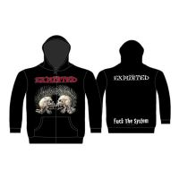 The Exploited - F*** The System (Zipped Hooded Sweatshirt)