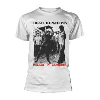 Dead Kennedys - Holiday In Cambodia Single White (T-Shirt)