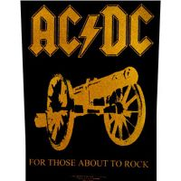 ACDC - For Those About To Rock Gold (Backpatch)