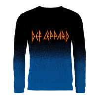 Def Leppard - Logo Dip Dye (Knitted Jumper)