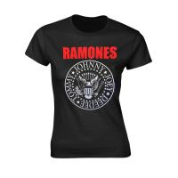 Ramones - Red Text Seal Logo (Girls T-Shirt)