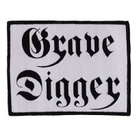 Grave Digger - White Logo (Patch)