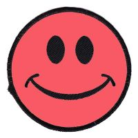 Neon Pink Smiley (Patch)