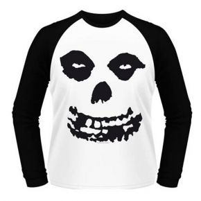 Misfits - All Over Skull (Long Sleeve Baseball Shirt)