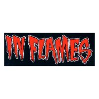 In Flames - Red Logo (Sticker)