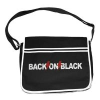 Back On Black - Logo (Retro Messenger Bag)