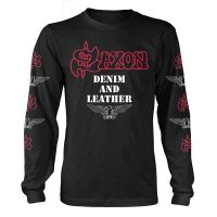 Saxon - Denim And Leather (Long Sleeve T-Shirt)