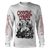 Cannibal Corpse - Pile Of Skulls White (Long Sleeve T-Shirt)