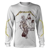 Metallica - And Justice For All White (Long Sleeve T-Shirt)