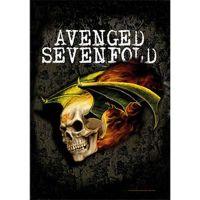 Avenged Sevenfold - Flaming Skull (Textile Poster)