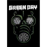 Green Day - Gas Mask (Textile Poster)
