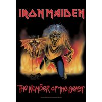 Iron Maiden - Number Of The Beast Single (Textile Poster)
