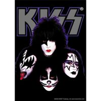 Kiss - Faces (Textile Poster)
