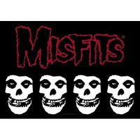 Misfits - Logo & Skulls (Textile Poster)
