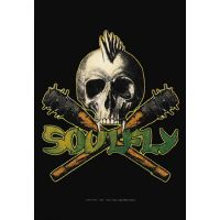 Soulfly - Skull & Clubs (Textile Poster)