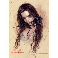 Victoria Frances - Rosa Negra (Textile Poster)