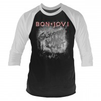 Bon Jovi - Slippery When Wet (3/4 Sleeve Baseball Shirt)